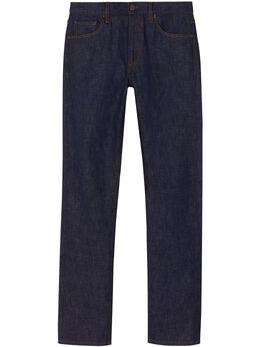 Burberry прямые джинсы из селвидж денима 8010530