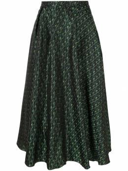 Rochas юбка миди с узором ROWO356104RO350460