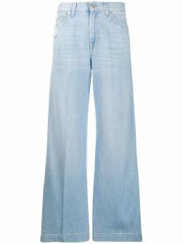 7 For All Mankind расклешенные джинсы с завышенной талией JSP0R890AH