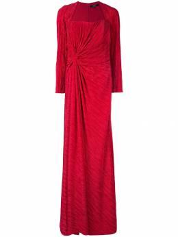 Badgley Mischka плиссированное платье с драпировкой EG2598