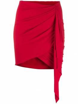 Alexandre Vauthier юбка асимметричного кроя с драпировкой 192SK105101911029
