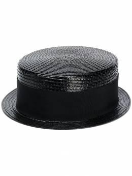 Saint Laurent вощеная плетеная шляпа 5648153YA57