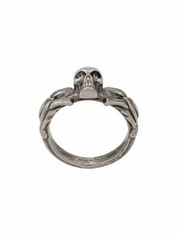 Alexander McQueen кольцо с декором в виде черепа 554574J160Y