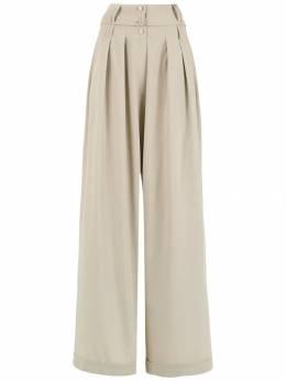 Gloria Coelho брюки палаццо со складками I19K007