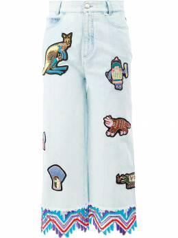 Peter Pilotto укороченные джинсы с заплатками TR02SS17
