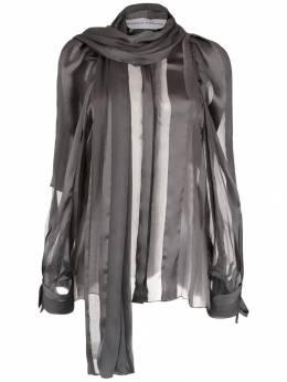 Gloria Coelho полупрозрачная блузка с шарфом I19C004