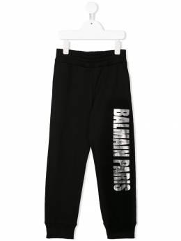 Balmain Kids спортивные брюки с логотипом 6L6627LC930