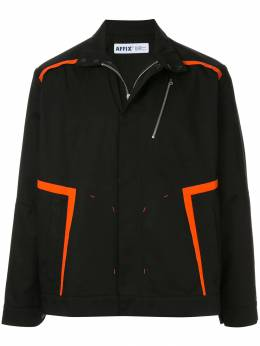 Affix куртка-рубашка с контрастными полосками AFXS19JK01B