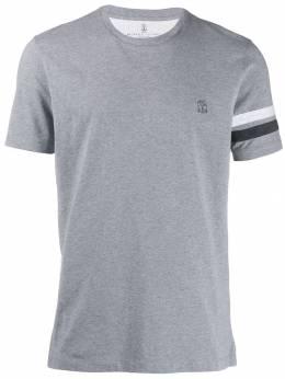 Brunello Cucinelli футболка с вышитым логотипом M0T611319GCI197