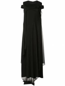 Yang Li платье макси с открытыми плечами F7183TI1877