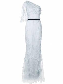 Marchesa Notte длинное платье с вышивкой N32G0935