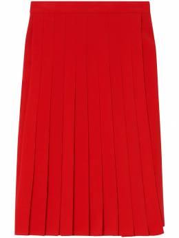 Burberry эластичная плиссированная юбка 8016917