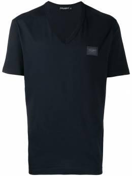 Dolce&Gabbana футболка с V-образным вырезом и логотипом G8KK0TFU7EQ
