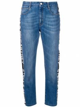 Stella McCartney джинсы с логотипами на лампасах 372773SNH04