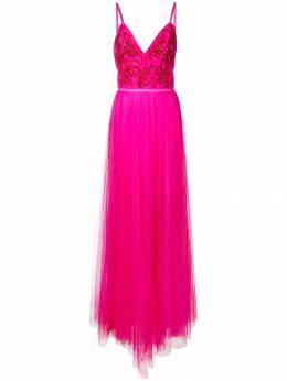 Marchesa Notte вечернее платье с цветочной вышивкой N28G0749