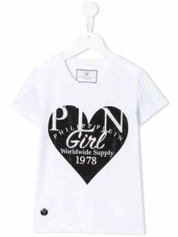 Philipp Plein Junior декорированная футболка F19CGTK0390PJY002N