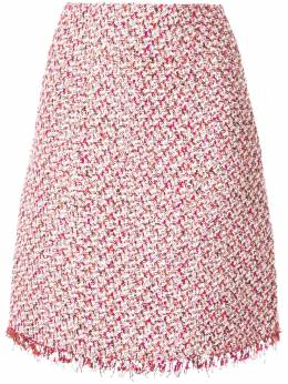 Giambattista Valli твидовая юбка миди прямого кроя GVC19480GVMBO6503