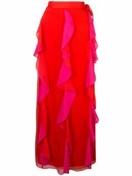 Dvf Diane Von Furstenberg юбка макси с оборками 13302DVF