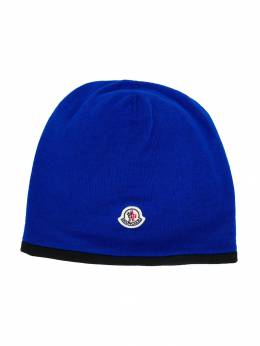 Moncler Kids logo patch beanie 9920505969BM