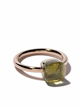 Pomellato 18kt rose & white small Nudo lemon quartz ring AB403O6QL