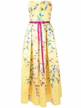 Marchesa Notte платье миди Mikado N32G0956