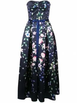 Marchesa Notte платье A-силуэта с цветочным принтом N32G0956