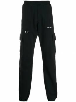 Off-White спортивные брюки с эластичным поясом OMCH013E19D250191001