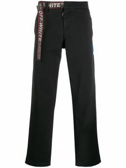 Off-White брюки чинос с поясом OMCG012E19D050021000