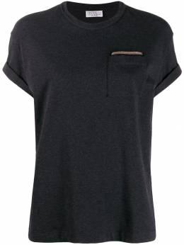 Brunello Cucinelli футболка с отделкой бисером M0T18BB200CD688