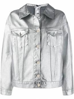 MSGM джинсовая куртка с эффектом металлик 2741MDH42L195786