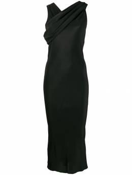 Rick Owens атласное платье с драпировкой RP19F5575CCJA