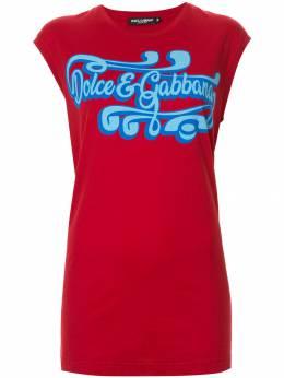 Dolce&Gabbana топ с логотипом F8H93THH74M