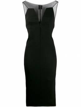 Rick Owens платье с сетчатыми вставками RP19F5521GGTU