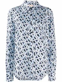 Marni рубашка с принтом Camicia CAMA0103Y2TSF21