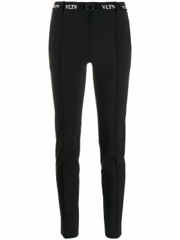 Valentino брюки скинни с поясом и логотипом VLTN SB3RB3854PK