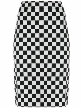 Boutique Moschino юбка-карандаш в клетку J01126117