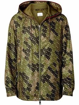Burberry куртка с капюшоном и монограммой 8016304