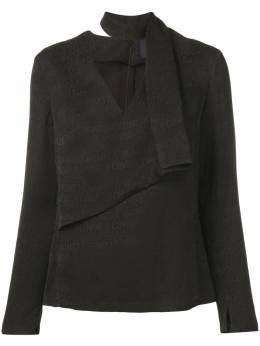 Roberto Cavalli Class блузка с принтом с логотипами B0ISA62491462899