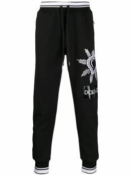 Dolce&Gabbana спортивные брюки с вышивкой Sacred Heart GYUVATG7SLZ