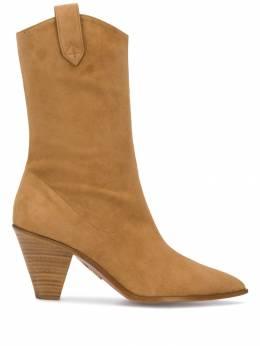 Aquazzura ботинки на каблуке BOOMIDB1SUE
