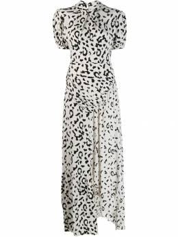 Self-Portrait платье с леопардовым принтом SP22094