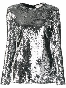 Stella McCartney блузка с пайетками 582282SNA29