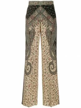 Etro брюки с принтом пейсли 176459061