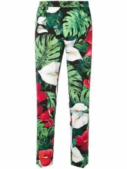 Dolce&Gabbana брюки с цветочным принтом GY6IETFSFI0