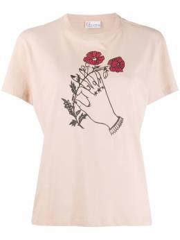 Red Valentino футболка с графичным принтом из коллаборации с Poppy's Papercuts SR3MG02J4EQ