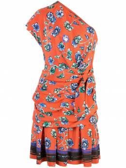 10 Crosby Derek Lam платье на одно плечо с цветочным принтом TP92509FF