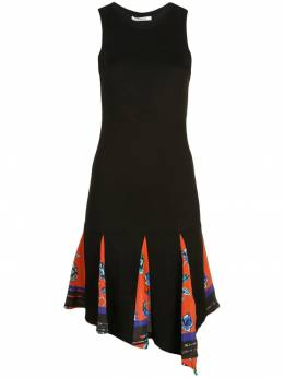 10 Crosby Derek Lam платье из джерси асимметричного кроя с принтом TP92527MJ