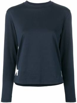Thom Browne свободная футболка джерси с длинными рукавами FJS037A05398