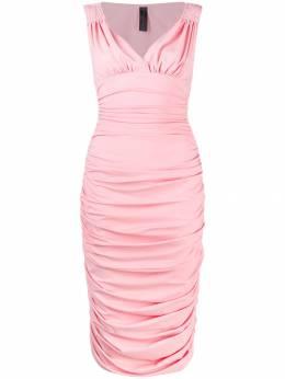 Norma Kamali платье Tara с драпировкой ST2293NL195039