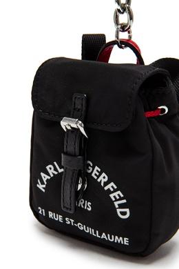 Черный текстильный брелок Karl Lagerfeld 682142188